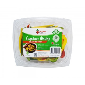 Modern Mum Capsicum Medley - Cut & Washed (300 gm)