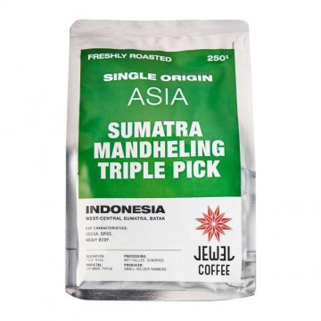 Jewel Sumatra Mandheling Triple Pick Coffee Beans - Indonesia (250 gm)