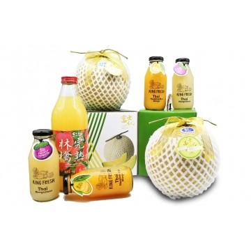 Premium Muskmelon & Juice Gift Set
